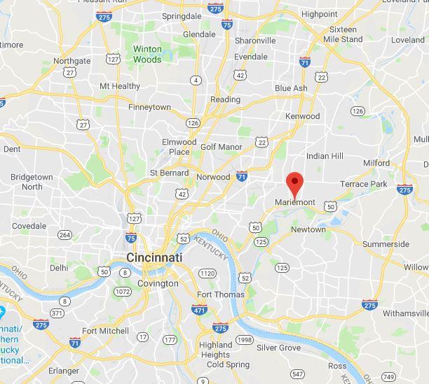Mariemont, Ohio on Google Maps