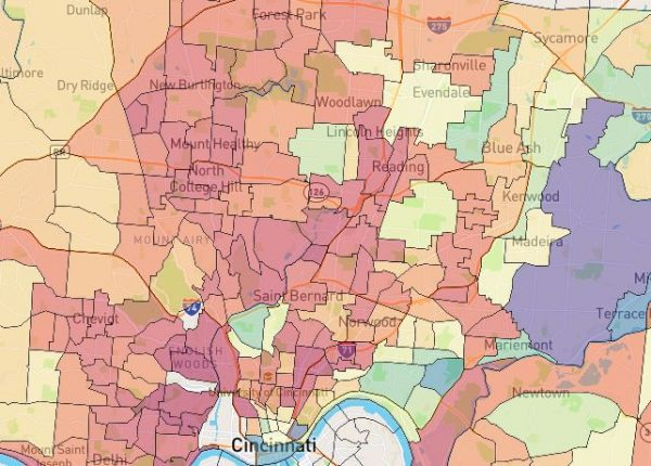 Visualizing Median House Value by Census Tract in Cincinnati
