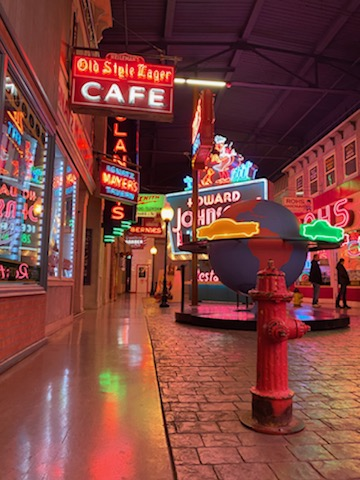 Neon signs in the American Sign Museum in Cincinnati, Ohio
