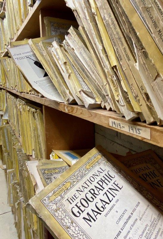National Geographic magazines at Ohio Book Store in Cincinnati