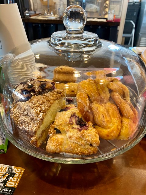 Baked goods at Square Mile Coffee Company in Mt. Healthy, Ohio