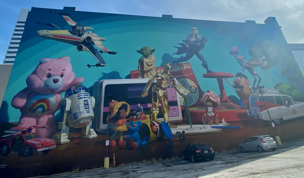 Cincinnati toy heritage mural in Cincinnati, Ohio