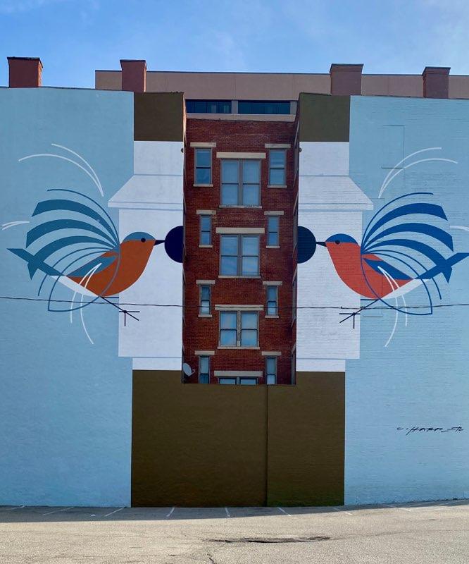 Charlie Harper mural in Cincinnati, Ohio