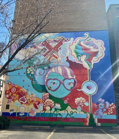 Mural in Over-The-Rhine in Cincinnati, Ohio