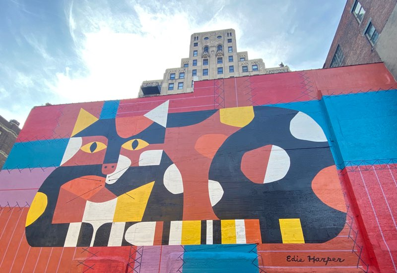 Edie Harper mural in Cincinnati, Ohio