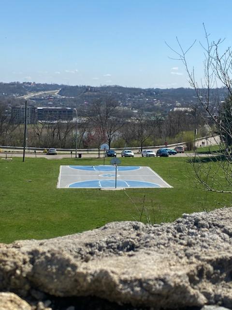 Basketball court at Eden Park in Cincinnati, Ohio