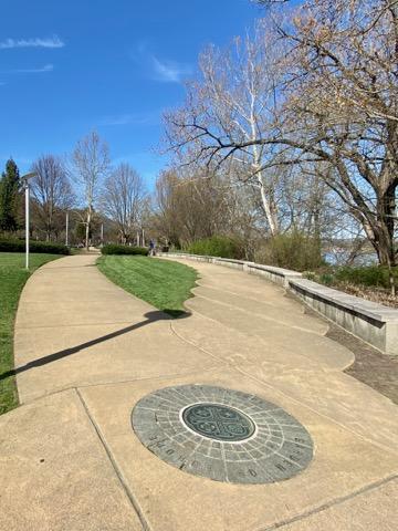 International Friendship Park walkway in Cincinnati, Ohio
