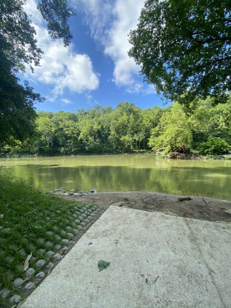 Kayak put-in at Kelley Nature Preserve in Cincinnati, Ohio