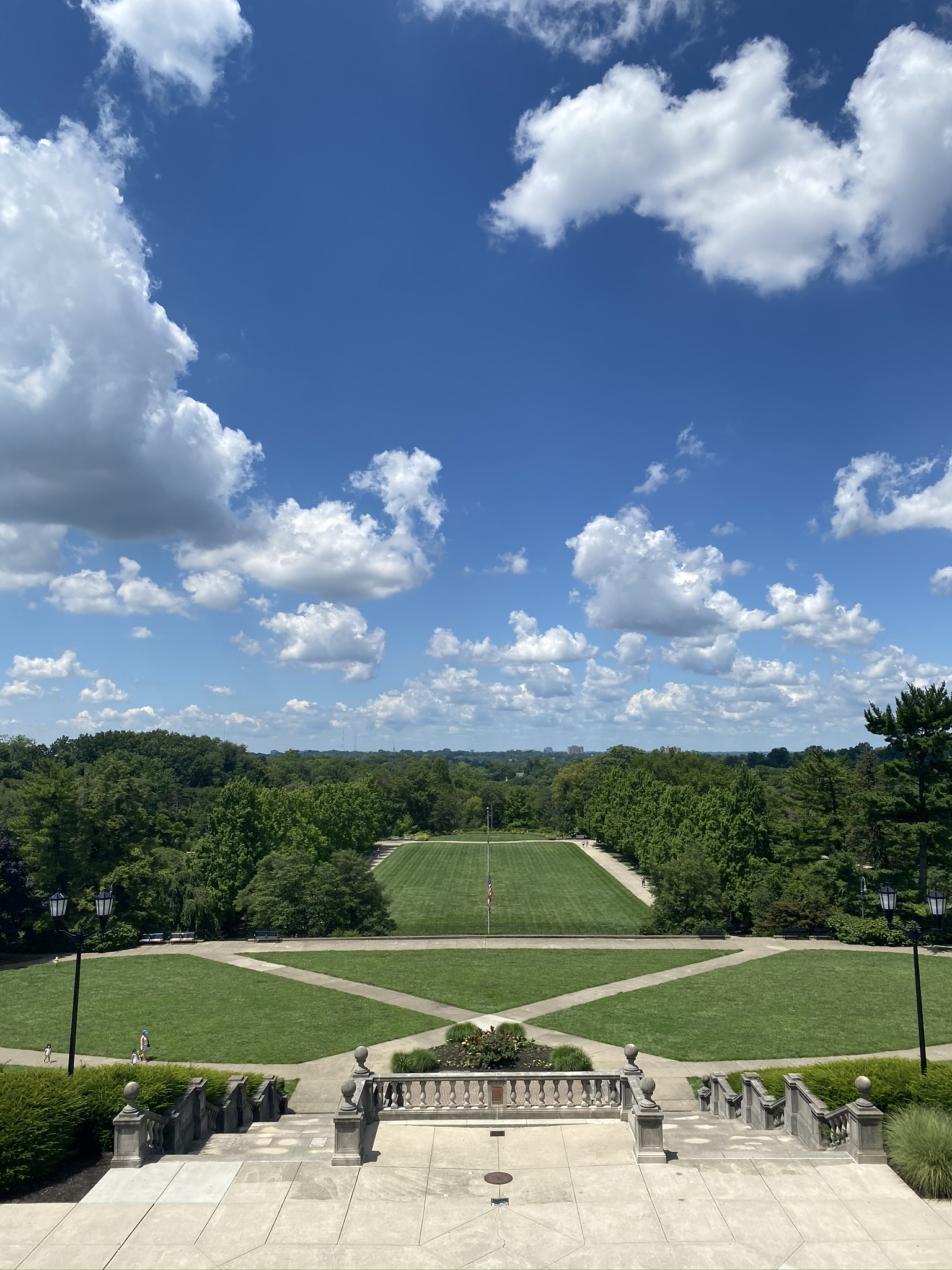 View from the pavilion at Ault Park in Cincinnati, Ohio