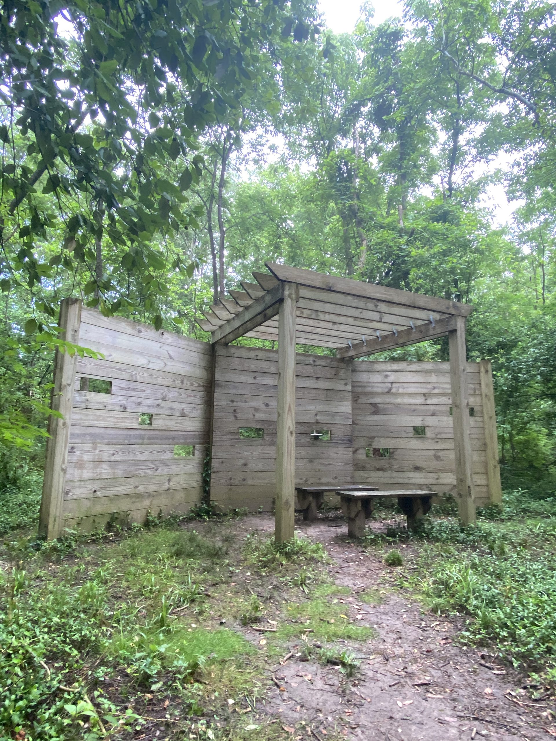 Bird blind at East Loveland Nature Preserve